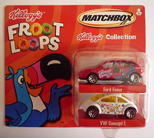 matchbox-2001-kelloggs-collection-froot-loops-ford-focus-vw-concept-1-by-mattel