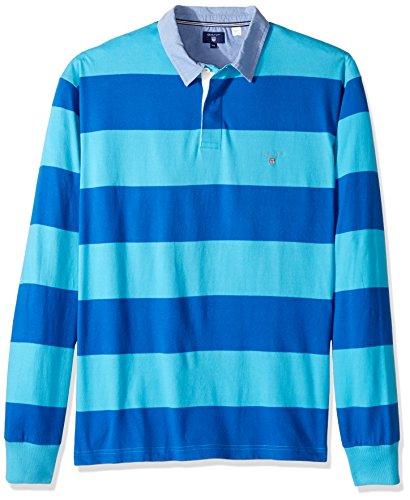 GANT Herren Sweatshirt The Original Barstripe Heavy Rugger Blau (Nautical Blue 422)