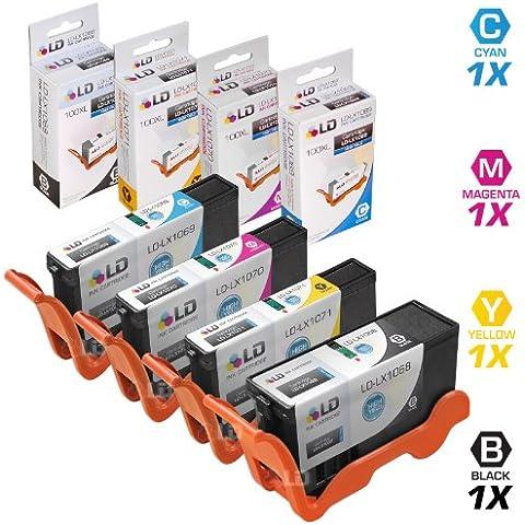 LD© compatibile Lexmark 100X L–Set di 4cartucce d' inchiostro ad alta resa: 1nero 14N1068, Ciano, (Colori A Getto D'inchiostro Di Ricambio)