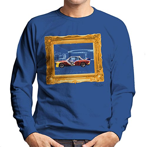 Martyn Goddard Official Photography - Bayerische Motoren Werke Art Car Calder Gold Frame Men's Sweatshirt (Sport-programm Frames)