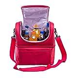 LIANJUN Camping Cooler Lunch Bag Kühlbox Freezable Baby Flasche Tasche mit Reißverschluss Thermische Isolierung Picknick-Box Lunch Beach Camping Haushalt / im Freien