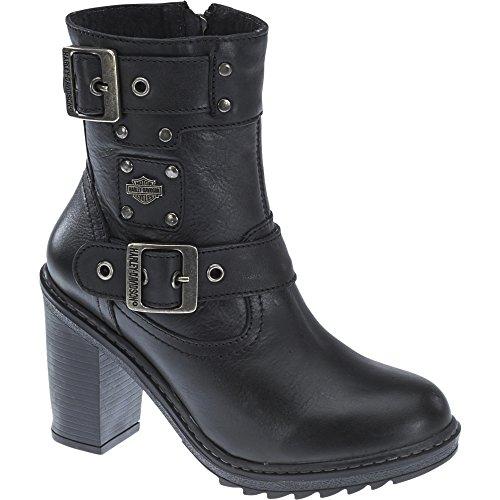 Boots Leather Davidson Harley Black Ludwell Womens FRw7UxUq6g