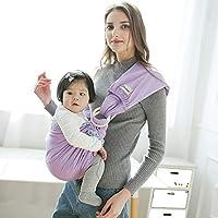 ddbf44425edf WUYEA Baby Wrap Sling avec Anneau en métal - Couverture d allaitement pour  bébé avec