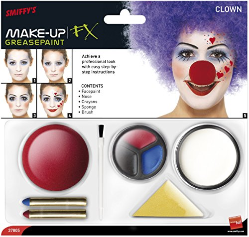 Smiffy'S 37805 Kit De Maquillaje De Payaso