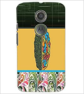 PrintDhaba Abstract Design D-3195 Back Case Cover for MOTOROLA MOTO X2 (Multi-Coloured)