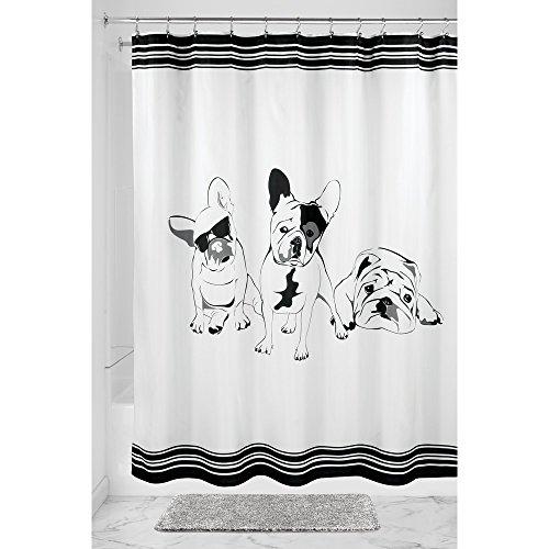 interdesign-62020-cortina-de-ducha-diseno-de-bulldog-frances-183-x-183-cm-color-negro-blanco