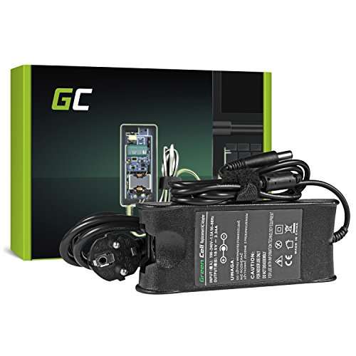 Green Cell® Netzteil für Dell Studio 1535 1536 | Dell Inspiron 1410 1501 1525 1526 3542 3541 E1505 14z N411z | Dell Vostro V13 1220 1310 1320 Laptop Ladegerät inkl. Stromkabel (19.5V 3.34A 65W) -