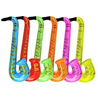 """babygiraffe 4pcs Inflatable Toy Saxophone 52cm 20"""" Party Accessories"""