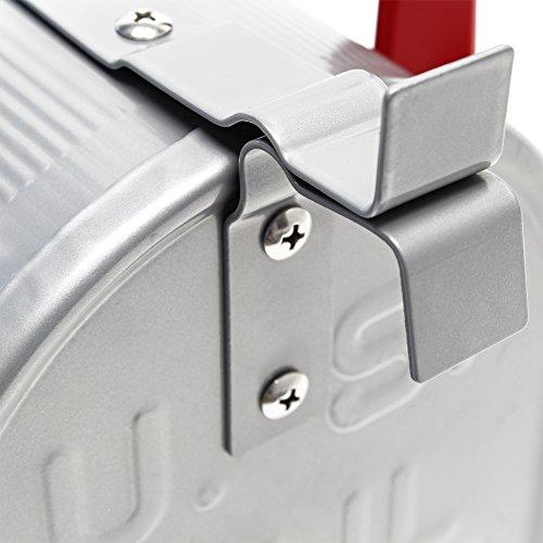 US Mailbox Briefkasten Amerikanisches Design silber mit passendem Standfuß - 6