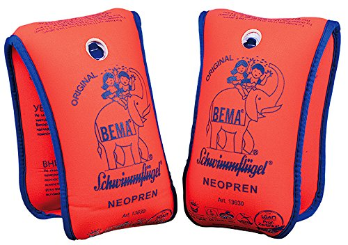 Bema Happy People_18004 18004-Happy, Neopren Schwimmflügel, Orange, 11-30 kg