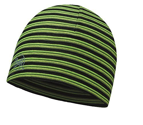 Buff Erwachsene Microfiber Reversible Hat Mütze, Yellow Fluor Stripes, One Size (Reversible Schal Stripe)