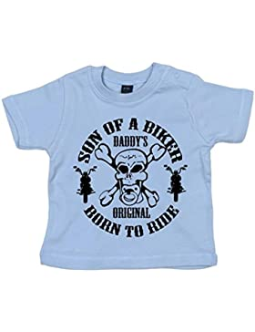 DF, Son of a Biker Daddy's Original Born to Ride, Baby T-shirt