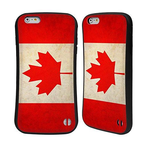 Head Case Designs Austalien Australianisch Vintage Fahnen Hybrid Hülle für Apple iPhone 6 / 6s Kanada Kanadisch