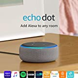 All-new Echo Dot (3rd Gen) - Smart speaker with Alexa - Heather Grey Fabric