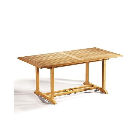 Winchester Teak Hardwood Rectangular Garden Table (Length 180cm  Width  90cm) - Jati Brand, Quality & Value Amazon.co.uk Garden & Outdoors