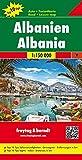 Albanien, Autokarte 1:150.000, Top 10 Tips, freytag & berndt Auto + Freizeitkarten: Toeristische wegenkaart 1:150 000