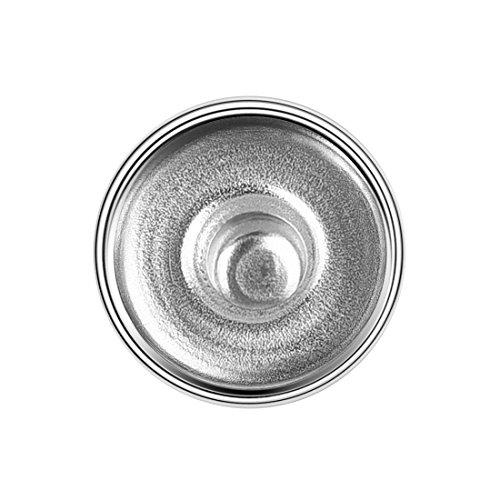 OBSEDE Blank Gem Snap Buttons konvexen Kreis Base Chunk Klicken Sie auf Silber Ton Metall Basis für Schmuckzubehör 10mm 20Pcs