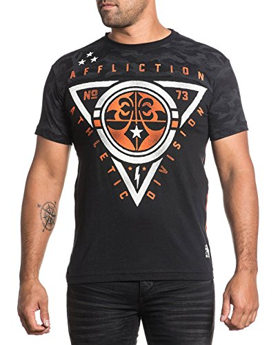 Affliction T-Shirt Athletic Division Schwarz/Camouflage Grau