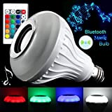 #7: Esca LED Color Bulb Light B22 Bluetooth Control Smart Music Audio Speaker Lamps (12)