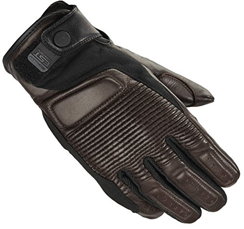 Spidi garage Classic Cafe Racer-Guanti da moto in tessuto marrone, 0749450, Brown, XXXL