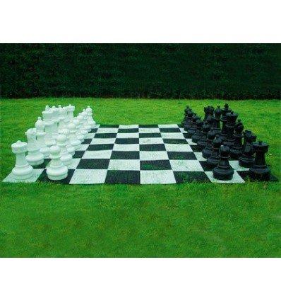 Amaya 444030 - Tabla Gigante de ajedrez y Cuadros en Nylon. Dimensiones: 274 x 274 cm