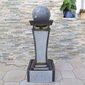 design springbrunnen dsb4 mit drehender kugel und led beleuchtung f r innen und aussen. Black Bedroom Furniture Sets. Home Design Ideas