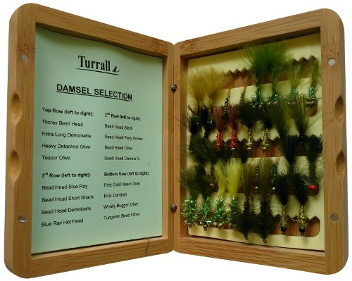 Bamboo Presentation Fliegen-Set, in Bambus-Box, Braun, 32Stück