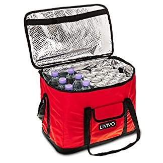 LIVIVO Extra Large 30 Litre Insulated Cool Bag, Collapsible Drink or Food Storage for Picnic, Camping, Festivals and Outdoor, or for Home 8