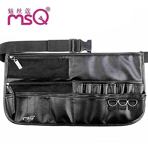 Meydlee maquillaje bolso Premium Super suave PU multifunción Muakeup cintura bolsillos con correa larga para Make Up artista práctico neceser cosmético portátil bolsas no incluyen