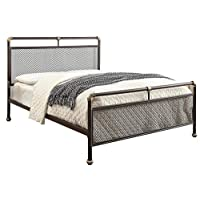 Sleep Design Cambridge Industrial Scaffold Style Pipe Metal Bed Frame - Single/Double/King Size (Brown, King 5ft)
