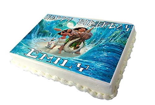 Price comparison product image Moana A4 Birthday Cake Topper