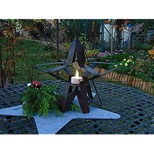 Edelrost Stern mit Kerzenhalter auch zum Aufhängen Weihnachten