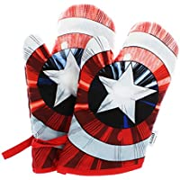 Captain America Shield Fabric Oven Mitt 2-Pack