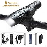 WASAGA XM-L2 LED Flashlight Set,1200 Lumens Adjustable Focus LED Torch 5 Modes Tactical