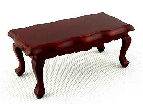 Casa Delle Bambole Mogano Ondulato Tavolino Vittoriano 1:12 Mobili Soggiorno