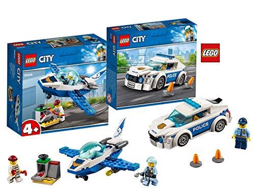 LEGO 60239 City Streifenwagen, bunt 60206 City Polizei Flugzeugpatrouille, - City Lego Streifenwagen 60239