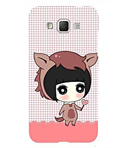 Lovely Girl with Heart in hand 3D Hard Polycarbonate Designer Back Case Cover for Samsung Galaxy Grand 3