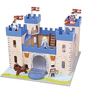 New Classic Toys Nuevos Clásicos Juguetes - 1030 - estatuilla Caballero y el Castillo - Lelin Juguetes - Mi Primer Castillo