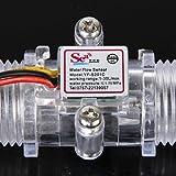 Generic 1-30L / Min Transparente Wasserdurchflusssensor Transparente Durchflussmesser Halle Wasserkontrolle