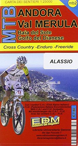 MTB-3 Andora. Carte sentieri di Liguria per mountain bike MTB VTT