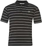 Dunlop Mens Stripe Golf Polo Shirt Short Sleeves Tee Top T Shirt Lightweight