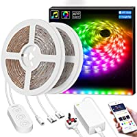 LED Strip Lights, Govee 10M Dream Colour Strip Light Music Sync with Brighter 5050 LEDs, Colour Changing Waterproof LED Lighting Kit App Controlled for TV Bedroom Kitchen Gaming Party