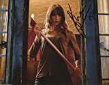 Sharni Vinson Signed You're Next Holding Ax Bloody Horror Color 10x8 Photo W COA