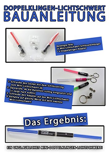 New Dual Mini Saber Kit RED Light Sticks Keyring Party Star Wars Clubs Parties Party Walks Night barbecues Light Staff LED dance Sabre fancy dress Darth Sith double ended bladed