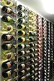 Vin'store Design - RVG22 - Porte Bouteille de vin Design Mural en INOX, Made in...