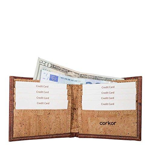 60cc995eaf Vegan Portafogli Uomo Portamonete, Portafoglio Porta Moneta, Non Pelle di  Sughero Rosso