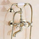Gyps Faucet cascata per rubinetto acqua fredda e calda rubinetto bagno La luce dorata rubinetto Doccia oro rosa bagno doccia kit C,rubinetto bidet, Desgin moderno rubinetto