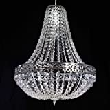 Chandelier Style Clear Acrylic Chrome Ceiling Light Shade Easy Fit Pendant