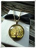 Bronze Rund Glas Kuppel Halskette–Life, Hope, Wahrheit, Freude, Inspiration, Energie, Gesundheit