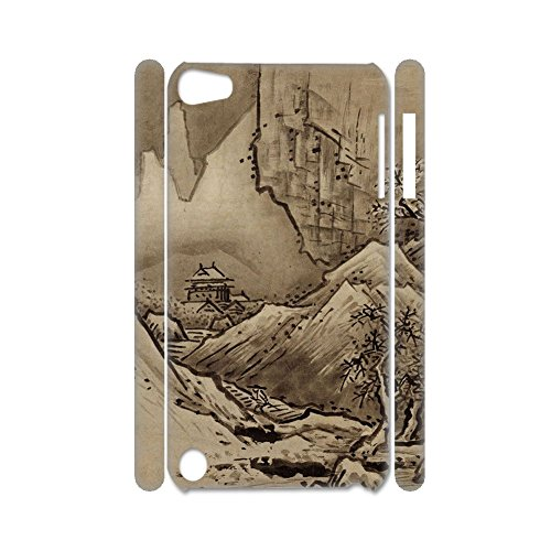 Plastics Print Asian Chinese Painting 2 Drop Resistance For Ipod Touch 5 Shell - Hülle Minecraft 4 Ipod Touch